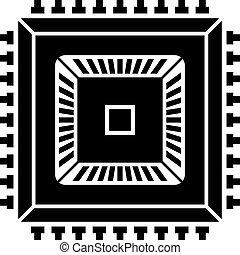 electronic chip black symbol