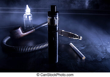 Electronic cigarette for vaping aromatic special fluids