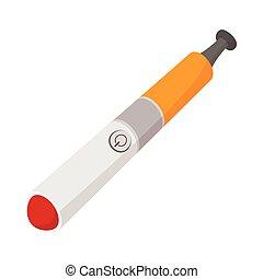 Electronic cigarette icon, cartoon style