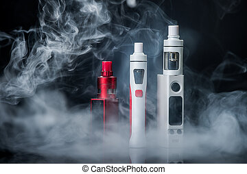 Electronic Cigarette on a black background in the studio