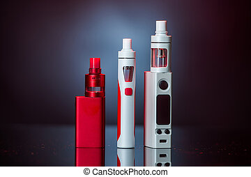 Electronic Cigarette - electronic cigarette and smoke on...