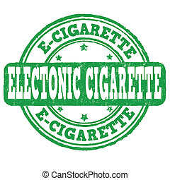 Electronic cigarette stamp - Electronic cigarette grunge...