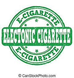 Electronic cigarette grunge rubber stamp on white, vector illustration