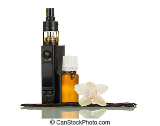 Electronic cigarette with liquid with vanilla aroma for...