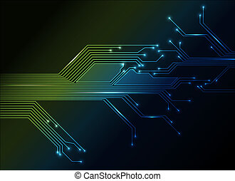 electronic circuit abstract background - electronic circuit ...