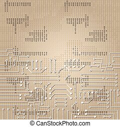 Electronic circuit and  binary code