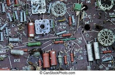 electronic circuit background