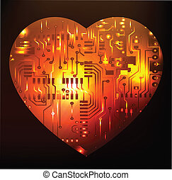 Electronic circuit board heart abst