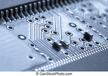 electronic circuit board - close up of electronic circuit...