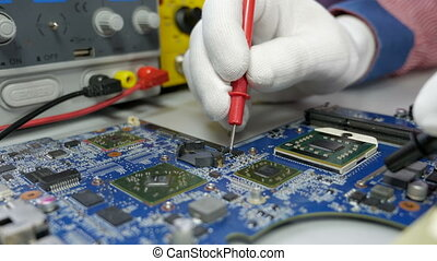 Electronic circuit board testing and repair