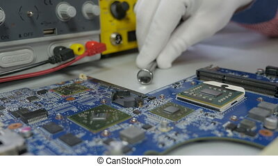 Electronic circuit board testing and repair