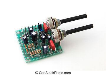 Electronic circuit board used in a computer.
