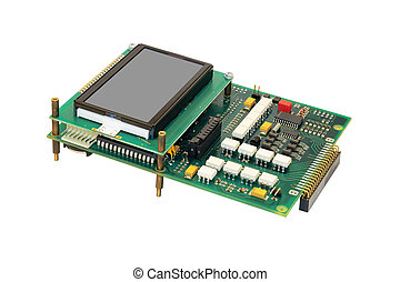 Electronic circuit board with display. - Electronic circuit...