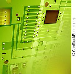 Electronic circuit board,2D digital art