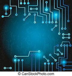 Electronic circuit - Drawing modern electronic circuit on ...