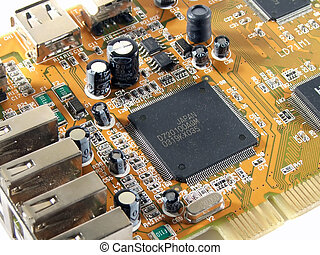 View of an electronic circuit