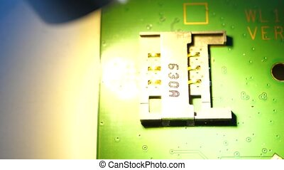 Electronic Circuit?board - Close up of an...