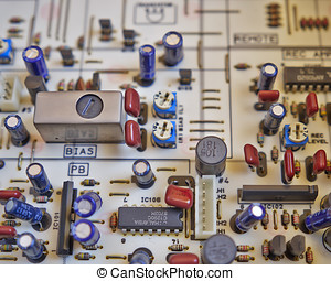 electronic circuitry in a hi fidelity cassete recorder