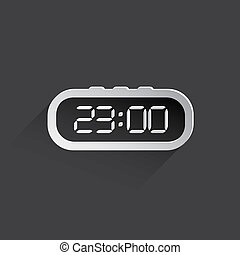 electronic clock web icon.