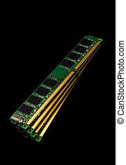 Electronic collection - computer random access memory (RAM) modules