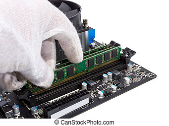 Electronic collection - Installing memory module in DIMM...
