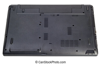 Electronic collection - The backside of a modern laptop isolated