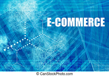 Electronic Commerce Abstract Background with Internet...