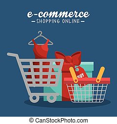 electronic commerce set icons
