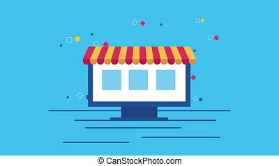 electronic commerce with computer display animation