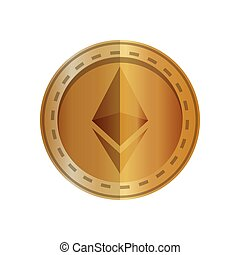 electronic commerce with ethereum vector illustration design