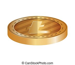 electronic commerce with litecoin vector illustration design