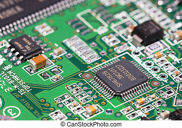 Electronic Component - Macro shot of electronic component on...
