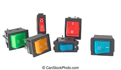 electronic component. Switch on white background