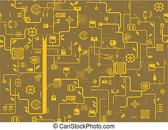 electronic component  texture background.