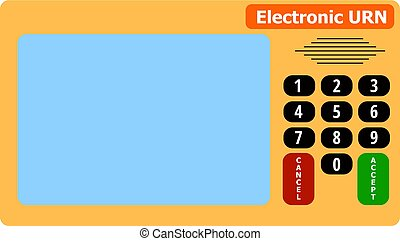 electronic device for voting in presidential and parliamentary elections