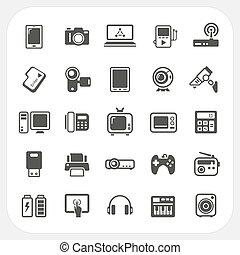 Electronic Device icons set