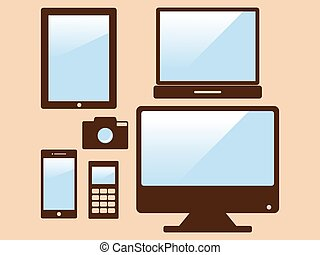 electronic devices - Electronic devices vector illustration...