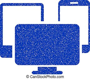 Electronic Devices Icon Grunge Watermark