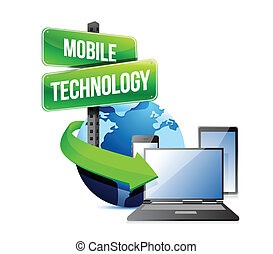 Electronic devices mobile technology illustration design