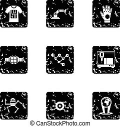 Electronic devices of future icons set