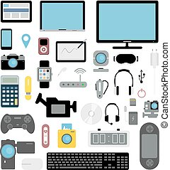 Electronic devices set.