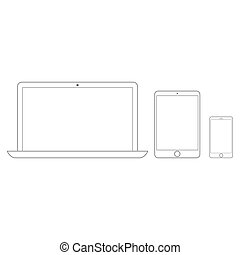 Electronic devices set line style