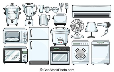 Electronic devices used in the kitchen