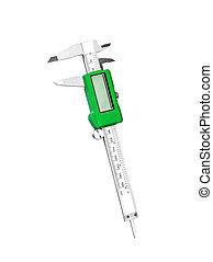 Electronic digital caliper isolated