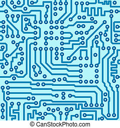 Electronic technology digital circuit blue board - seamless vector pattern