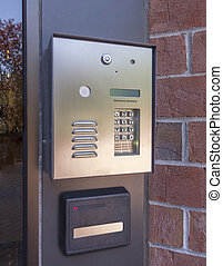 door directory and security pad - Electronic door directory...