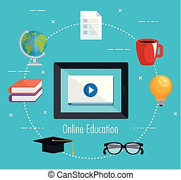 electronic education with tablet