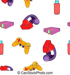 Electronic equipment pattern, cartoon style