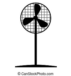electronic fan. Against the heat. simple style.