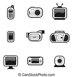 A set of electronic gadgets